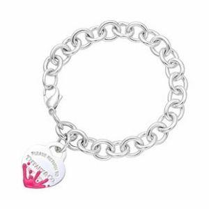 ISO TIFFANY CO. Color Splash Heart Tag Bracelet